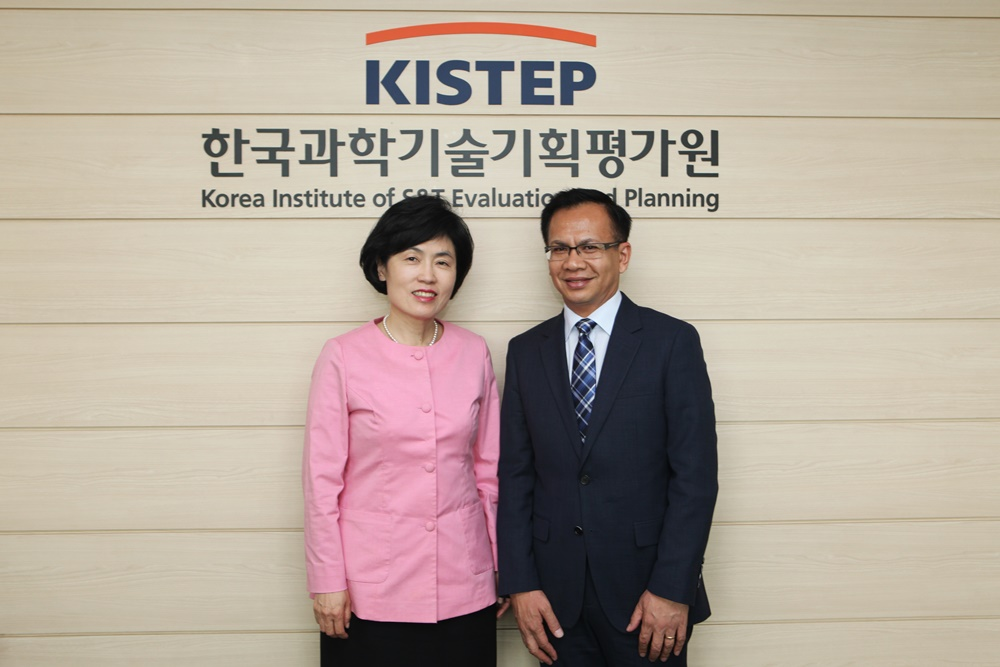 Yoslan Nur, Programme Specialist of the United Nations Educational, Scientific and Cultural Organization (UNESCO), visited KISTEP