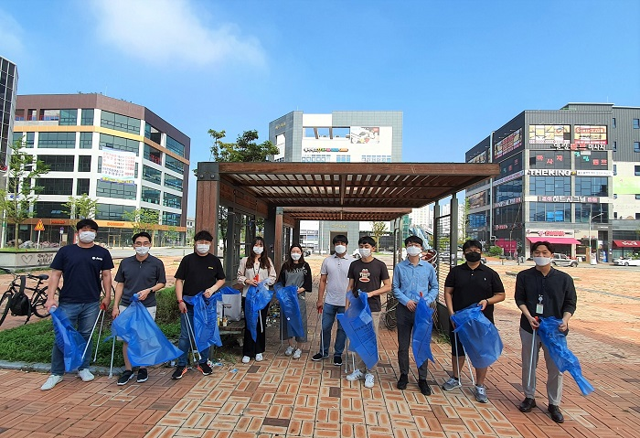Chungbuk Innovation City Cleaning Activity After Heavy Rains
